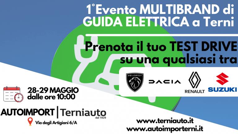 Evento Test Drive Elettrico Terni 28 29 Maggio
